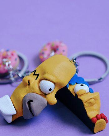 Llaveros Homer y Marge